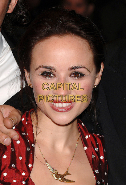 """EMMA PIERSON.The Times BFI London Film Festival: """"The Lives Of The Saints"""" screening, Odeon West End, London, UK. .October 20th, 2006.Ref: BEL.headshot portrait gold bird necklace.www.capitalpictures.com.sales@capitalpictures.com.©Tom Belcher/Capital Pictures."""