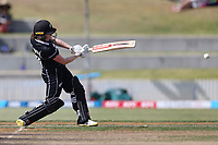 4th April 2021; Bay Oval, Taurange, New Zealand;  New Zealand's Lauren Down hits out during the 1st women's ODI White Ferns versus Australia Rose Bowl cricket match at Bay Oval in Tauranga.