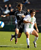 31 October 2007: The University of Binghamton Bearcats' Justin Leskow, a Junior from Endwell, NY, in action against the University of Vermont Catamounts at Historic Centennial Field in Burlington, Vermont. The Catamounts shut out the visiting Bearcats 2-0...Mandatory Photo Credit: Ed Wolfstein Photo