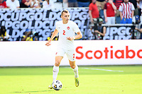 KANSAS CITY, KS - JULY 18: Alistair Johnson #2 of Canada during a game between Canada and USMNT at Children's Mercy Park on July 18, 2021 in Kansas City, Kansas.