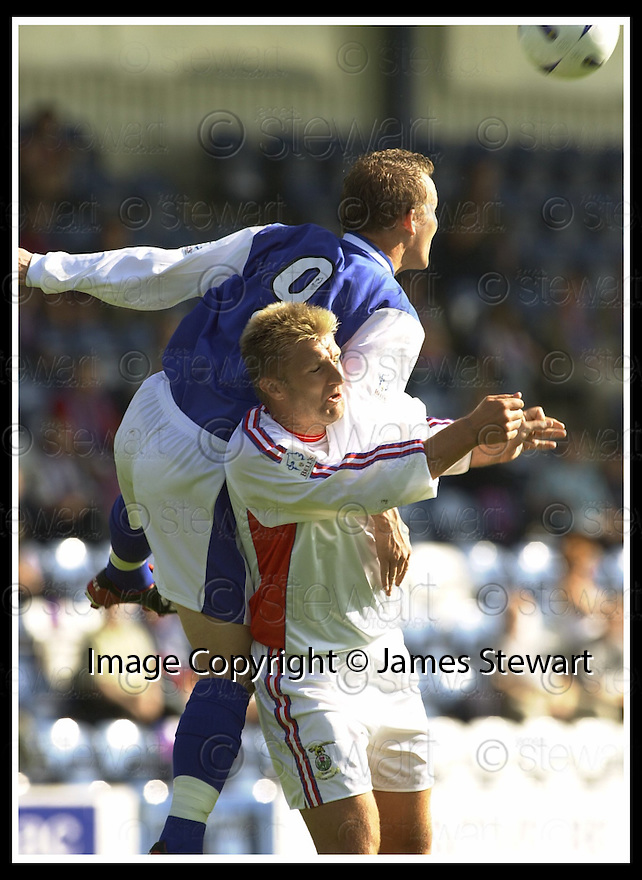 14/9/02       Copyright Pic : James Stewart                     .File Name : stewart-qots v inverness 08.PETER WEATHERSON GETS UP ABOVE ROSS TOKEY....James Stewart Photo Agency, 19 Carronlea Drive, Falkirk. FK2 8DN      Vat Reg No. 607 6932 25.Office : +44 (0)1324 570906     .Mobile : + 44 (0)7721 416997.Fax     :  +44 (0)1324 570906.E-mail : jim@jspa.co.uk.If you require further information then contact Jim Stewart on any of the numbers above.........