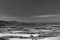 Ardnamurchan Lighthouse and Ardnamurchan Point, the most westerly point on the British mainland, from Bay Macneil, Ardnamurchan, Lochaber