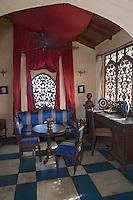 Afrique/Afrique de l'Est/Tanzanie/Zanzibar/Ile Unguja/Stone Town: Hotel Emerson&Green dans une ancienne demeure de l'empire Swahili, détail d'une chambre
