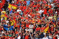 Spain fans celebrate a goal. The men's national team of Spain (ESP) defeated the United States (USA) 4-0 during a International friendly at Gillette Stadium in Foxborough, MA, on June 04, 2011.