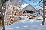 The Quechee Bridge in Quechee village, Hartford, VT, USA