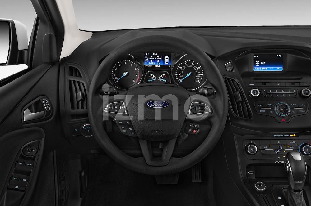 Car pictures of steering wheel view of a 2015 Ford Focus SE Sedan 4 Door Sedan Steering Wheel