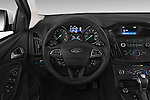 Car pictures of steering wheel view of a 2015 Ford Focus SE Sedan 4 Door Sedan Steering Wheel