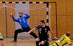 Deutschland - Sport<br /> Handball - Aufstiegsrunde zur 2. Bundesliga<br /> TuS Dansenberg (dan) - HSG Krefeld Niederrhein (kref) 24:21<br /> Torwart Kevin KLIER (TuS Dansenberg) bei einer seiner vielen Paraden<br /> <br /> Foto © PIX-Sportfotos *** Foto ist honorarpflichtig! *** Auf Anfrage in hoeherer Qualitaet/Aufloesung. Belegexemplar erbeten. Veroeffentlichung ausschliesslich fuer journalistisch-publizistische Zwecke. For editorial use only.