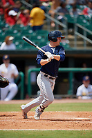 Mobile BayBears Brendon Sanger (4) during a Southern League game against the Montgomery Biscuits on May 2, 2019 at Riverwalk Stadium in Montgomery, Alabama.  Mobile defeated Montgomery 3-1.  (Mike Janes/Four Seam Images)