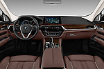 Stock photo of straight dashboard view of a 2018 BMW 6 Series Gran Turismo Luxury 5 Door Hatchback