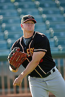 August 24 2008: Thomas Simmons of the Modesto Nuts before game against the Lancaster JetHawks at Clear Channel Stadium in Lancaster,CA.  Photo by Larry Goren/Four Seam Images