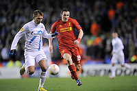 21.02.2013 Liverpool, England. Stewart Downing of Liverpool  in action during the Europa League game between Liverpool and Zenit St Petersburg from Anfield. Liverpool won 3-1 on the night but went out of the competition on away goals.