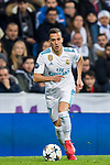 Lucas Vazquez of Real Madrid in action during the UEFA Champions League 2017-18 Round of 16 (1st leg) match between Real Madrid vs Paris Saint Germain at Estadio Santiago Bernabeu on February 14 2018 in Madrid, Spain. Photo by Diego Souto / Power Sport Images