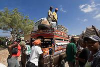 haitischer Markt bei Jimani an der Grenze zu Haiti, Dominikanische Republik