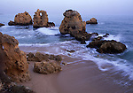 Europe, PRT, Portugal, Algarve, Albufeira, Landscape, Typical Coast, Rocky Coast