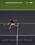 SHANGHAI, CHINA - OCTOBER 16:  Juan Monaco of Argentina retuns a ball to Andy Murray of Great Britain during day six of the 2010 Shanghai Rolex Masters at the Shanghai Qi Zhong Tennis Center on October 16, 2010 in Shanghai, China.  (Photo by Victor Fraile/The Power of Sport Images) *** Local Caption *** Juan Monaco