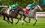 May 8, 2021: Harvey's Lil Goil, ridden by Junior Alvarado, wins the 2021 running of the G3 Beaugay S. at Belmont Park in Elmont, NY. Sophie Shore/ESW/CSM