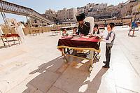 Israel,Jerusalem, orhodox judes Hassidic pray at the Western Wall