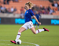 HOUSTON, TX - JANUARY 28: Sam Mewis of the United States warms up during a game between Haiti and USWNT at BBVA Stadium on January 28, 2020 in Houston, Texas.