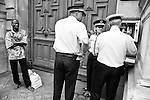 A delegate from the CSP75 is waiting at the Préfecture de Police door, with a plastic bag containing dozens of regularization demands. Negotiations with the authorities throughout the occupation resulted in approx. XX people obtaining their documents, a meagre success compared to the number of cases (more than 1300).