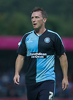 Garry Thompson of Wycombe Wanderers during the Capital One Cup match between Wycombe Wanderers and Fulham at Adams Park, High Wycombe, England on 11 August 2015. Photo by Andy Rowland.
