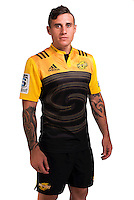 TJ Perenara. Hurricanes Super Rugby official headshots at Rugby League Park, Wellington, New Zealand on Wednesday, 6 January 2016. Photo: Dave Lintott / lintottphoto.co.nz
