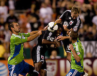 Peter Vagenas, Patrick Ianni, Bryan Namoff, Luciano Emilio. The Seattle Sounders defeated DC United, 2-1, to win the 2009 Lamr Hunt U.S. Open Cup at RFK Stadium in Washington, DC.