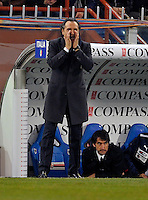 Coach Cesare Prandelli (ITA), during the friendly match Italy against USA at the Stadium Luigi Ferraris at Genova Italy on february the 29th, 2012.