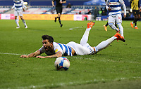Macauley Bonne of Queens Park Rangers goes down in the box during Queens Park Rangers vs Watford, Sky Bet EFL Championship Football at The Kiyan Prince Foundation Stadium on 21st November 2020