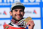 FIS Alpine World Ski Championships 2021 Cortina . Cortina d'Ampezzo, Italy on February 19, 2021. men's Giant Slalom, <br /> <br /> Mathieu Faivre (FRA) is the new gold medalist.