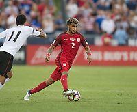 Commerce City, CO - Thursday June 08, 2017: DeAndre Yedlin during a 2018 FIFA World Cup Qualifying Final Round match between the men's national teams of the United States (USA) and Trinidad and Tobago (TRI) at Dick's Sporting Goods Park.