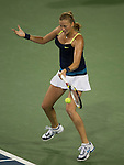 Petra Kvitova (CZE) loses in the semifinals at the Western & Southern Open in Mason, OH on August 18, 2012.