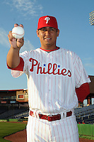 Feb 20, 2009; Clearwater, FL, USA; The Philadelphia Phillies pitcher Carlos Carrasco (62) during photoday at Bright House Field. Mandatory Credit: Tomasso De Rosa/ Four Seam Images