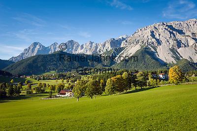 Austria, Styria, Ramsau and Dachstein mountains | Oesterreich, Steiermark, Ramsau vor Dachsteingruppe