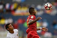 Orlando, FL - Monday June 06, 2016: Panama defender Roderick Miller (5) and Bolivia defender Diego Bejarano (4) during a Copa America Centenario Group D match between Panama (PAN) and Bolivia (BOL) at Camping World Stadium.