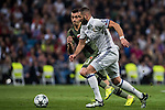 Karim Benzema of Real Madrid fights for the ball with Tomasz Jodlowiec of Legia Warszawa during the 2016-17 UEFA Champions League match between Real Madrid and Legia Warszawa at the Santiago Bernabeu Stadium on 18 October 2016 in Madrid, Spain. Photo by Diego Gonzalez Souto / Power Sport Images