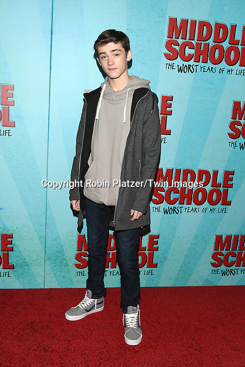 """Keldrich Sellati of The Americans attends the """"Middle School: The Worst Years of My Life"""" New York Screening on October 1, 2016 at the Regal E-Walk in New York, New York, USA.<br /> <br /> photo by Robin Platzer/Twin Images<br />  <br /> phone number 212-935-0770"""