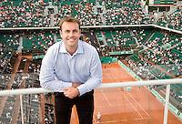 29-5-08, France,Paris, Tennis, Roland Garros, Manager John Tobias, SFX Sports Marketing