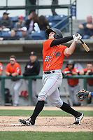 Jared Foster (23) of the Inland Empire 66ers bats against the Rancho Cucamonga Quakes at LoanMart Field on May 7, 2017 in Rancho Cucamonga, California. Rancho Cucamonga defeated Inland Empire, 6-0. (Larry Goren/Four Seam Images)