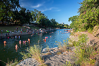 """Barton Springs Pool has been called """"the soul of Austin"""" with a history of human activity that dates back at least 10,000 years. It is the main discharge point for water that enters Barton Springs Pool from Edwards Aquifer."""