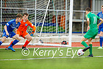 Kerry's Cianan Cooney takes a shot against Limerick in the EA Sports U17 League of Ireland soccer game