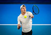 Amstelveen, Netherlands, 18  December, 2020, National Tennis Center, NTC, NK Indoor, National  Indoor Tennis Championships,   : Gijs Brouwer (NED) <br /> Photo: Henk Koster/tennisimages.com