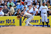 July 15, 2009:  First Baseman Beau Mills of the Akron Aeros during the 2009 Eastern League All-Star game at Mercer County Waterfront Park in Trenton, NJ.  Photo By David Schofield/Four Seam Images
