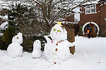 Snowman West Horsley Surrey  Uk January 2010
