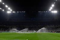 A general view of the stadium with sprinklers in action during the Uefa Champions League group D football match between FC Internazionale and Real Madrid at San Siro stadium in Milano (Italy), September 15th, 2021. Photo Andrea Staccioli / Insidefoto