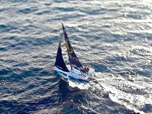 Atlantic sailing – Pam lee and Cat Hunt crossing Donegal Bay in Iarracht Maigeanta
