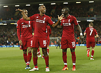 Liverpool forward Daniel Sturridge celebrates scoring the first goal during the UEFA Champions League - Group C match at the Anfield Stadium, Liverpool. Picture date 18th September 2018. Picture credit should read: Andrew Yates/Sportimage PUBLICATIONxNOTxINxUK  <br /> Uefa Champions League 2018/2019 <br /> Foto Imago / Insidefoto <br /> ITALY ONLY