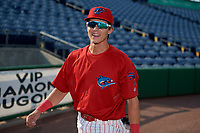 Clearwater Threshers shortstop Nick Maton (6) before a Florida State League game against the Charlotte Stone Crabs on May 17, 2019 at Spectrum Field in Clearwater, Florida.  Charlotte defeated Clearwater 12-4.  (Mike Janes/Four Seam Images)