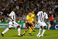 Fudbal, Champions league,Group H season 2010/2011.Partizan Vs. Arsenal.Andrey Arshavin, center, Pierre Boya, right and Medo, left.Beograd, 29.09.2010..foto: Srdjan Stevanovic/Starsportphoto ©