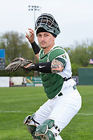 Beloit Snappers catcher Skyler Weber (4) poses for a photo before a Midwest League game against the Lake County Captains at Harry C. Pohlman Field on May 8, 2019 in Beloit, Wisconsin. (Zachary Lucy/Four Seam Images)
